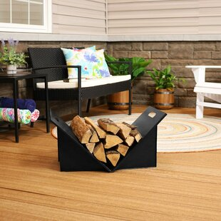 Cantrell Indoor And Outdoor Folding Steel Log Rack By Symple Stuff