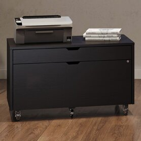 BDI Modica 2 Drawer Mobile File Pedestal