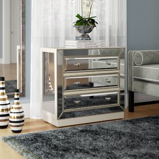 Willa Arlo Interiors Primm Mirrored 3 Drawer Chest