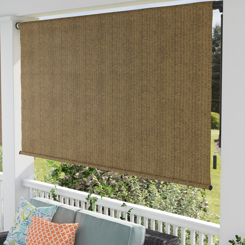 Blackout Outdoor Roller Shade Amp Reviews Birch Lane