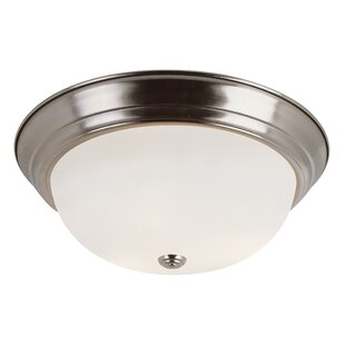 Charlton Home Elwin 1-Light LED Flush Mount