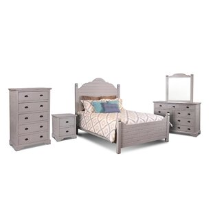 August Grove Ragnar Queen Panel 5 Piece Bedroom Set