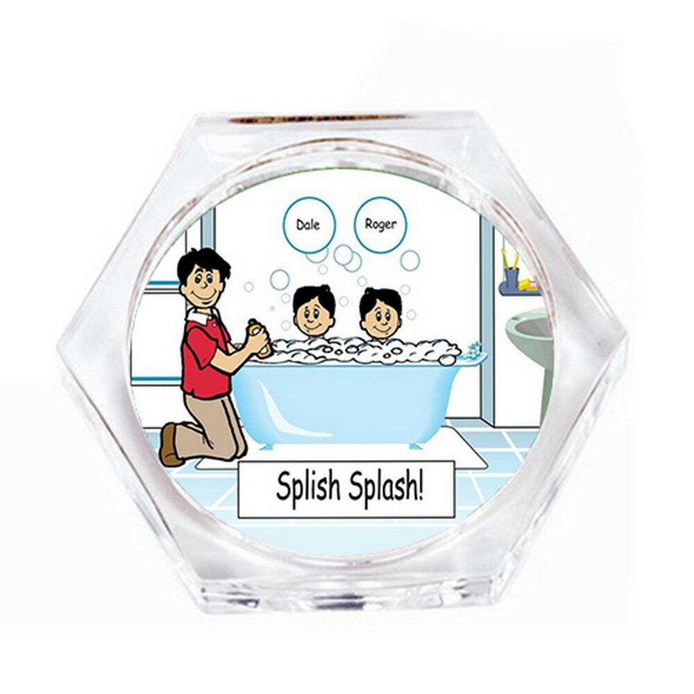 Trinx Bath Time Dad Coaster Wayfair