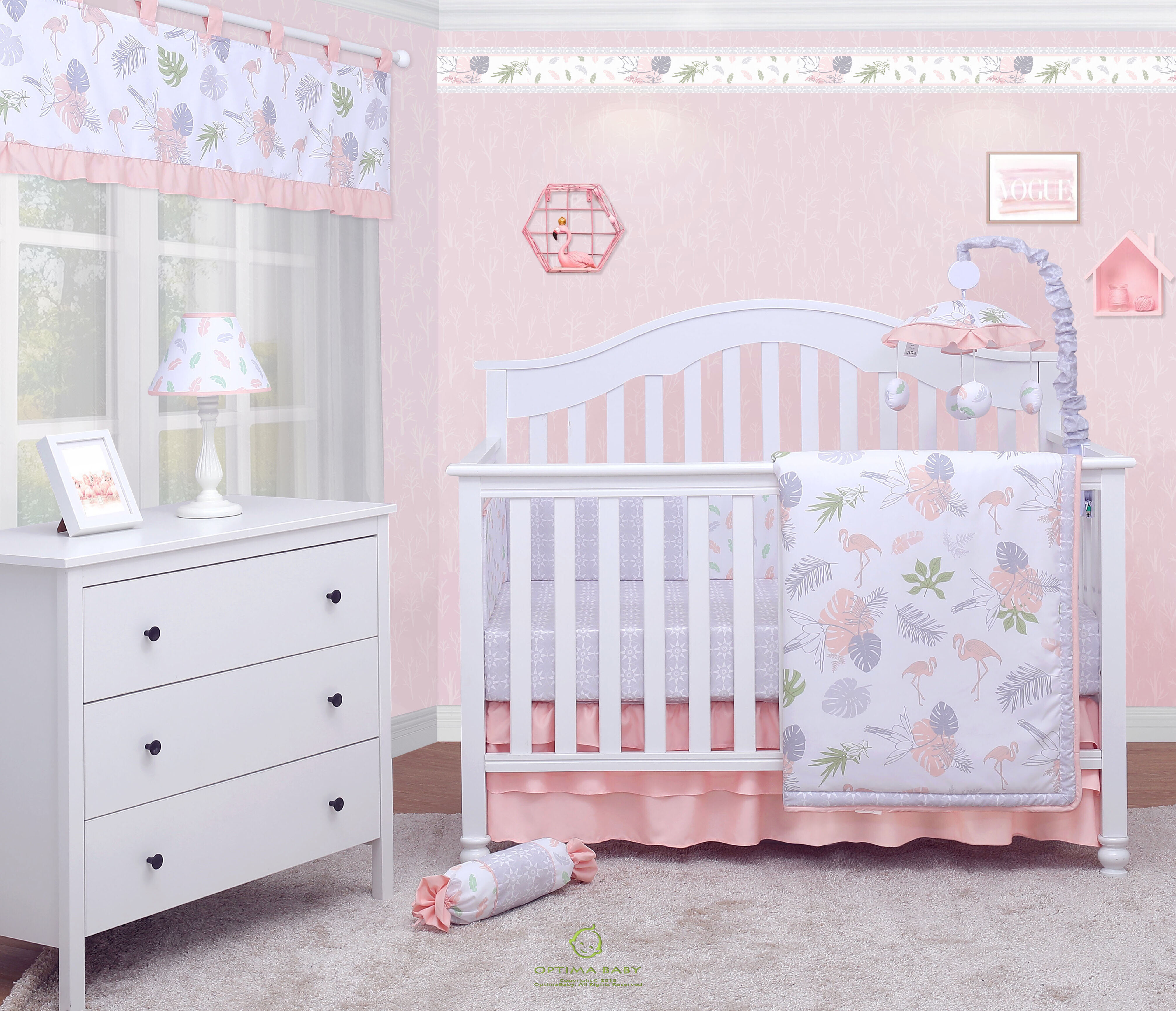 Design; In Crib Cotton Five Piece Kit Crib Bed Cotton Removable And Washable Childrens Bedding Package Novel