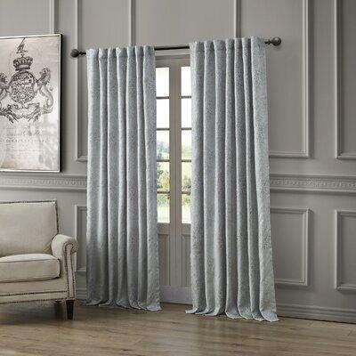 "Waterford Bedding Delia Striped Semi-Sheer Rod Pocket Single Curtain Panel Size per Panel: 54"" W x 108"" L"