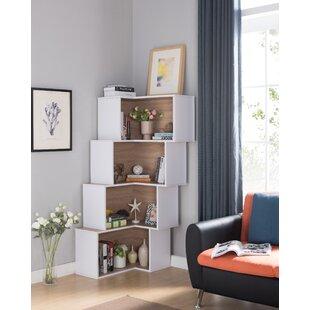 Farragutt Modern Corner Bookcase