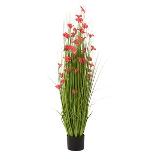 115cm Artificial Grass And Flower Plant In Planter By The Seasonal Aisle