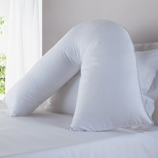 Griego Hypoallergenic Down Alternative Total Body V Shaped Fiber Pillow