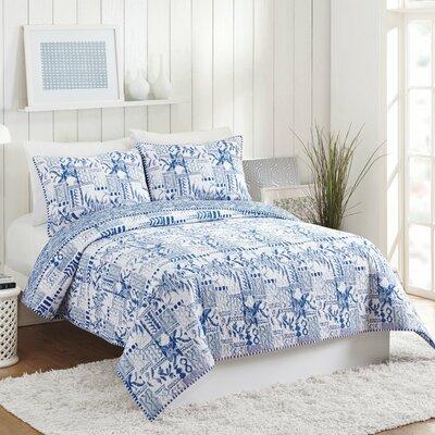 Makers Collective Cotton 3 Piece Reversible Quilt Set Size King