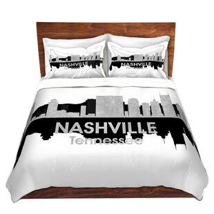 East Urban Home City IV Nashville Tennessee Duvet Set
