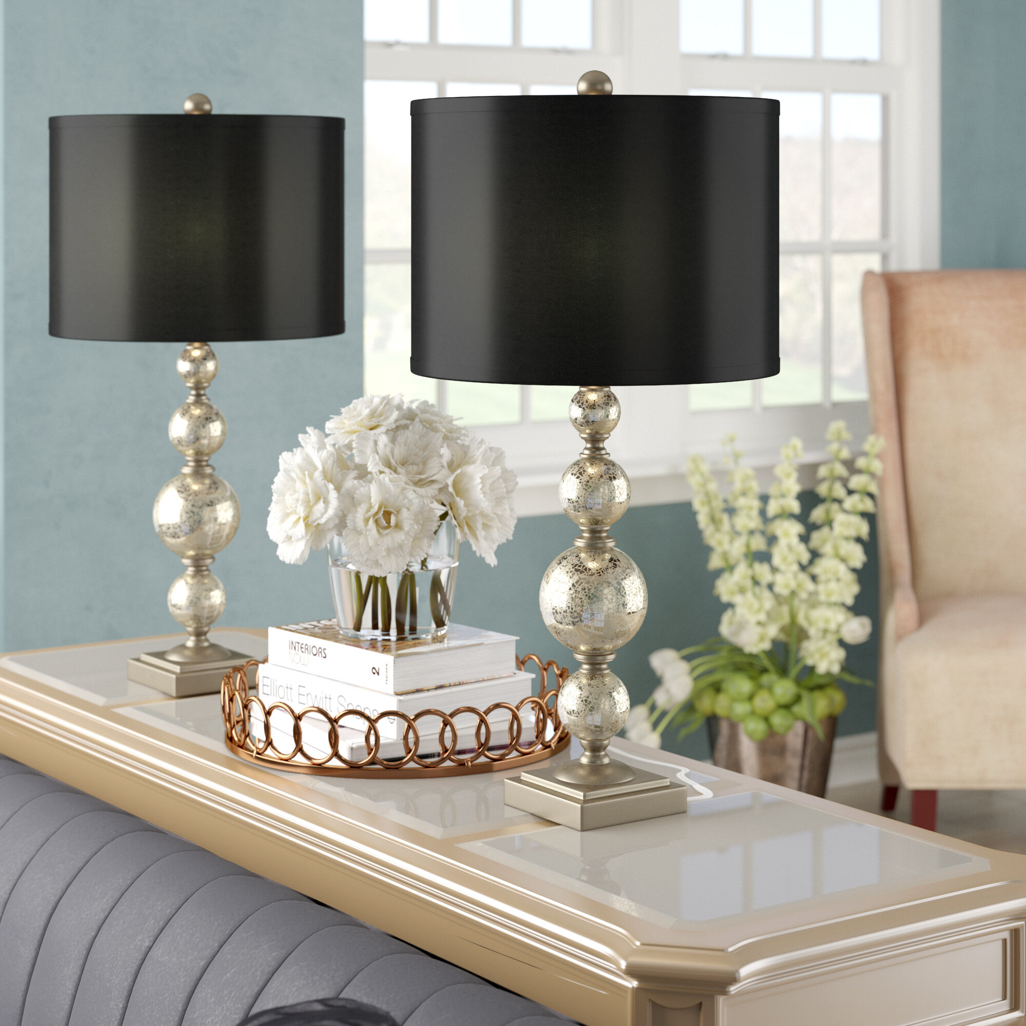 Mercury Glass Table Lamps You Ll Love In 2020 Wayfair