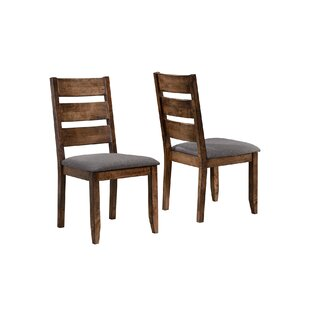 Orland Upholstered Dining Chair (Set of 2) Loon Peak