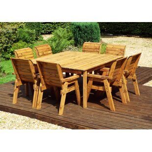 Franco 8 Seater Dining Set With Cushions By Union Rustic