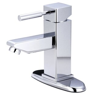 Kingston Brass Concord Bathroom Faucet with Push-Up and Deck Plate
