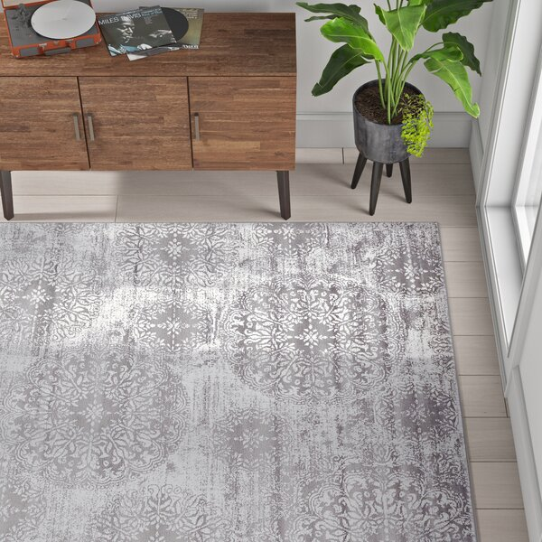 Mistana Brandt Floral Gray Area Rug Reviews Wayfair