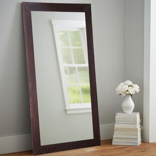 Great choice Adalwin Dark Walnut Leaning Accent Wall Mirror ByDarby Home Co