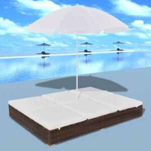 Gartenliegen-Set Sonnenschein mit Auflage von Home Etc