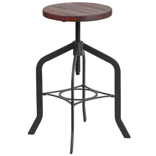 Ed Adjustable Height Swivel Bar Stool Williston Forge