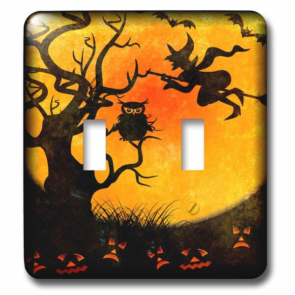 3drose Halloween Witch 2 Gang Toggle Light Switch Wall Plate Wayfair