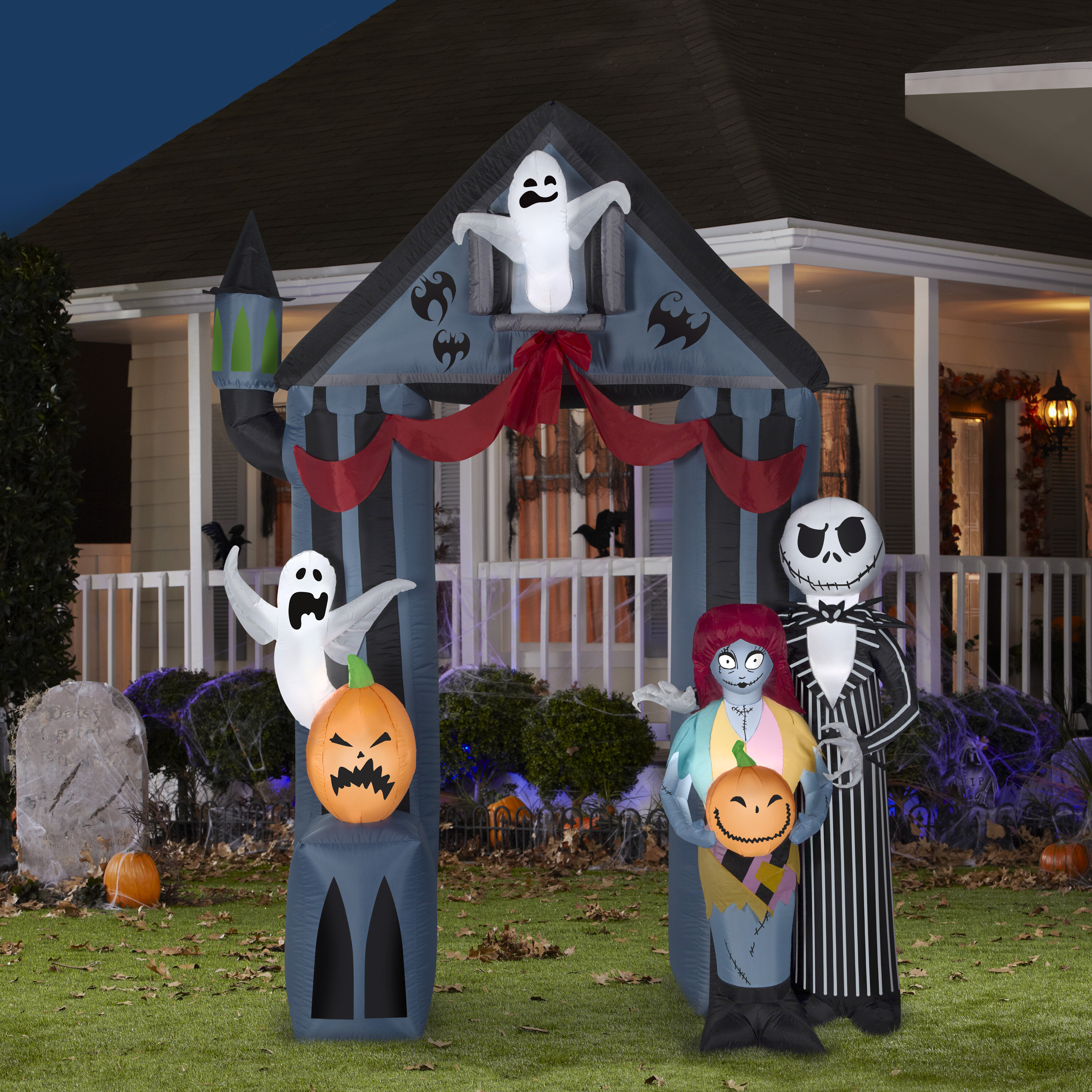 The Holiday Aisle Airblown Disney Archway Nightmare Before Christmas Inflatable Reviews Wayfair