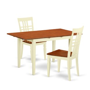 Balfor 3 Piece Extendable Solid Wood Dining Set