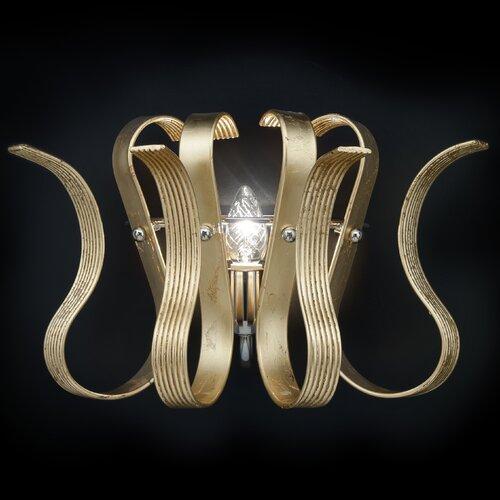 Onda 1 Light Semi-Flush Wall Light Metal Lux Colour: Gold