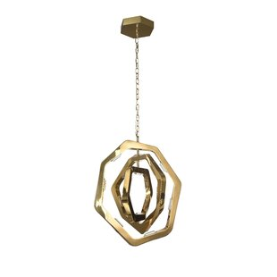 Claudel LED Geometric Pendant by Brayden Studio