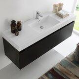 Mezzo 59 Wall-Mounted Single Bathroom Vanity Set by Fresca