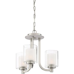 Moreland 3-Light Shaded Chandelier by Latitude Run