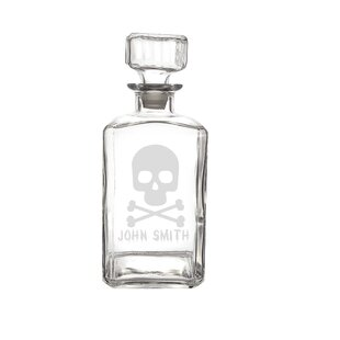 Neely Personalized Skull And Crossbones 34 Oz Decanter by The Holiday Aisle