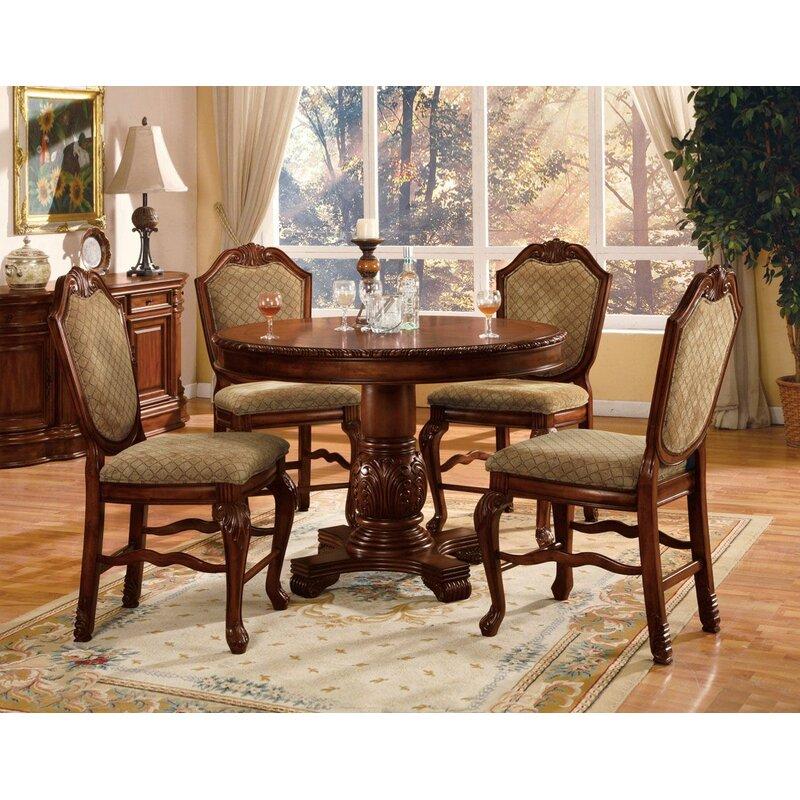 Stephenson 5 Piece Counter Height Dining Set