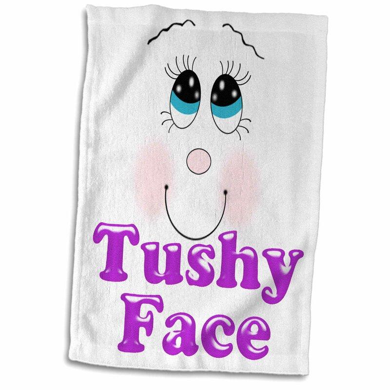 3drose Cute And Funny Tushy Face Design Hand Towel Wayfair