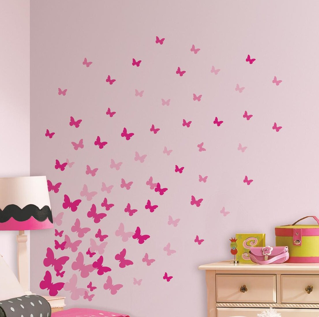 Removable Border Removable Wall Stickers Pattern Decals Living Room Waterproof
