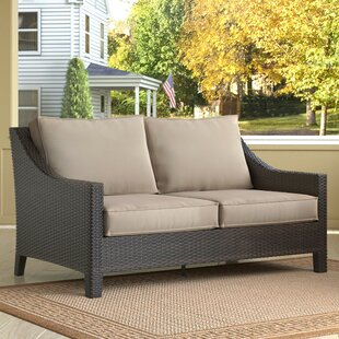 Tahoe Outdoor Wicker Loveseat with Cushions by Serta at Home