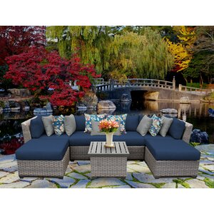 Florence 7 Piece Sectional Seating Group with Cushion