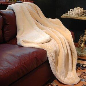 Reversible Velvety Plush Throw Blanket