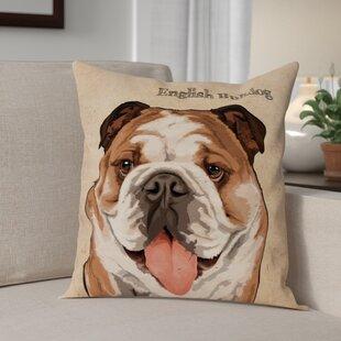 English Bulldog Pillow Wayfair