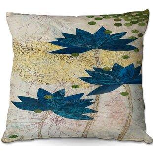 Paper Mosaic Studio Lotus Throw Pillow