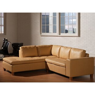 Nil Leather Sectional by Red Barrel Studio