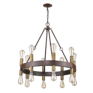 Corrigan Studio Amia 16-Light Wagon Wheel Chandelier