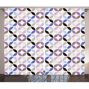 Fractal Decor Room Darkening Rod Pocket Curtain Panels (Set Of 2)