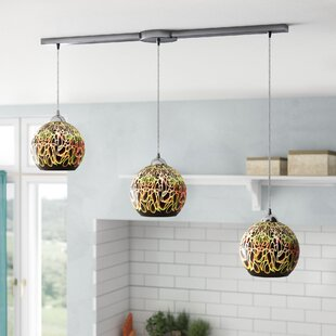 Burks 3-Light Cluster Pendant by Latitude Run