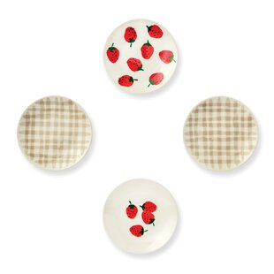 Melamine Tidbit Plates, Strawberries