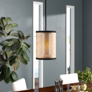 Brayden Studio Dailey 1-Light Cylinder Pendant