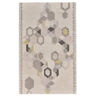Find the perfect Willowick Hand-Tufted Ivory/Yellow Area Rug ByWrought Studio