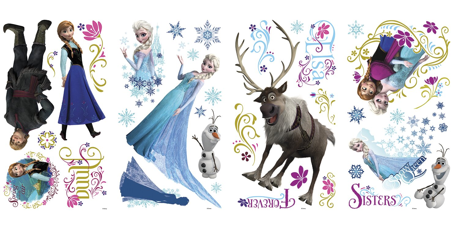 Superb 36 Piece Disney Frozen Characters Wall Decal Set Part 21