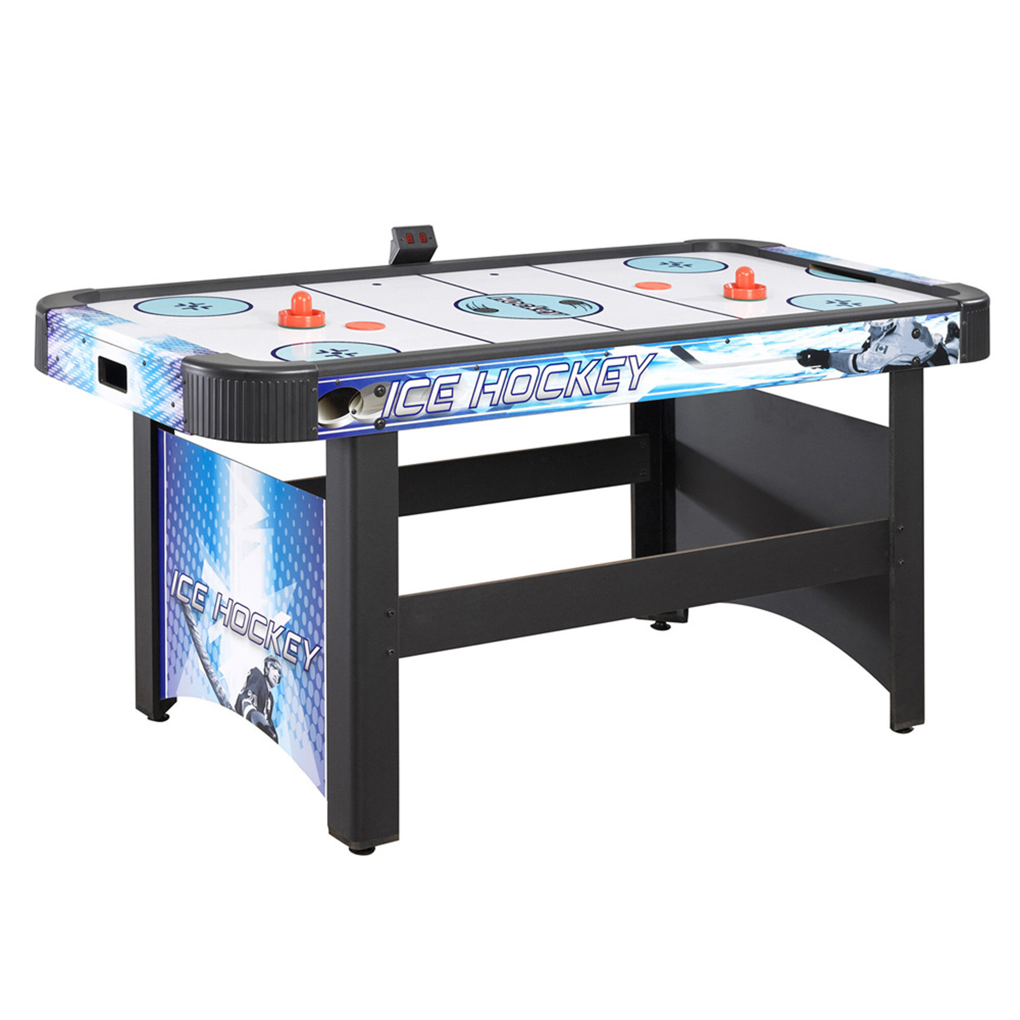 Face Off 5u0027 Air Hockey Table With Electronic Scoring