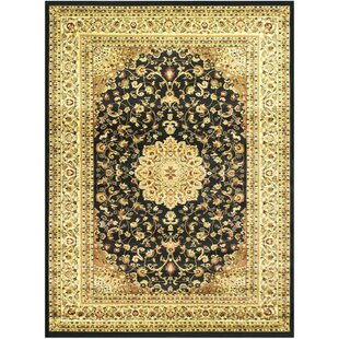 Read Reviews Super Belkis Black Area Rug By Bekmez International Inc.