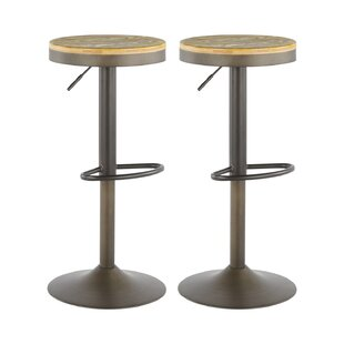 Chambord Height Adjustable Swivel Bar Stool (Set Of 2) By Brayden Studio