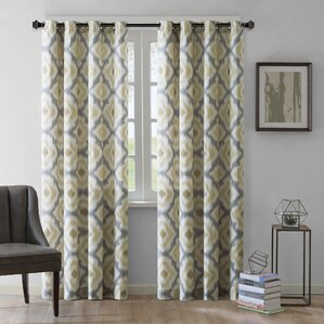 Ankara Ikat Semi Sheer Single Curtain Panel Part 73